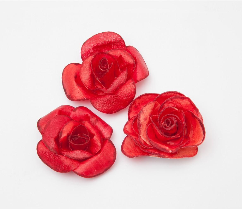 Růžičky z jedlého papíru