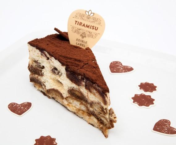 Dekorace z jedlého papíru - TIRAMISU